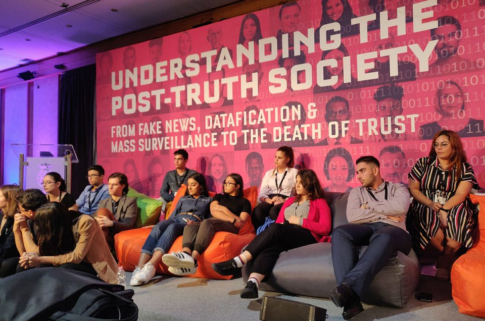 Young People's Summit, at close of 3CL Post-truth Society Conference, 2019