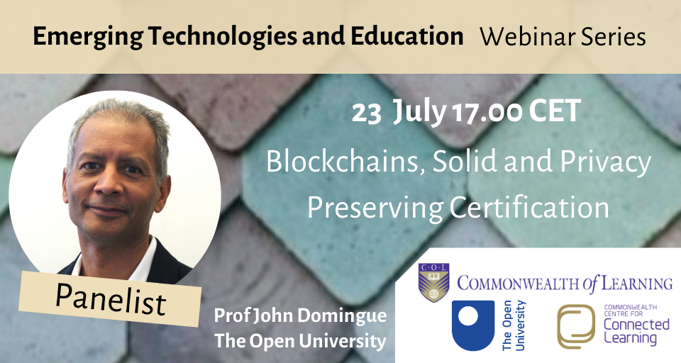 Blockchains, Solid and Privacy Preserving Certification Webinar