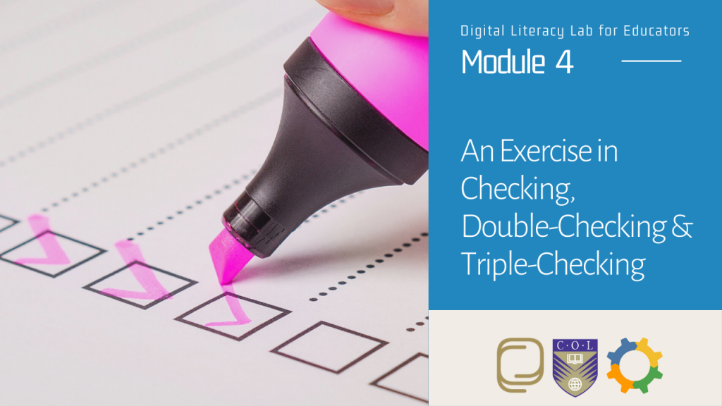 25. An Exercise in Checking, Double-Checking and Triple-Checking