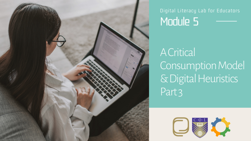 32. A Critical Consumption Model and Digital Heuristics (Part 3)