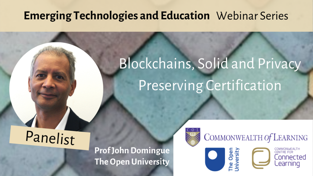 Blockchains, Solid and Privacy Preserving Certification